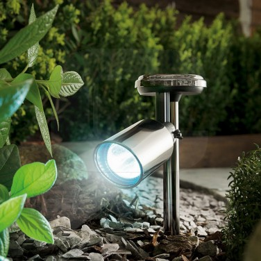 Black Nickel Solar Spotlight
