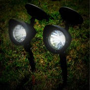 Black Solar Spotlights (2 Pack) (19278)
