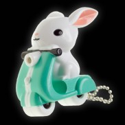 Scooter Bunny LED Keyring Torch